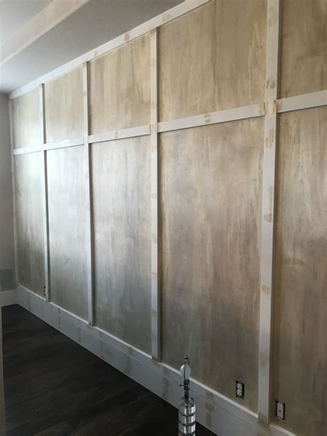 board  batton wall diy   thin sanded plywood