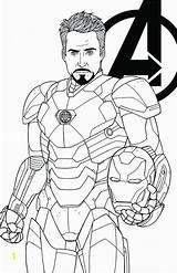 Infinity War Coloring Iron Avengers Divyajanani sketch template