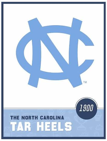Tar Heels Carolina North Heel History Card