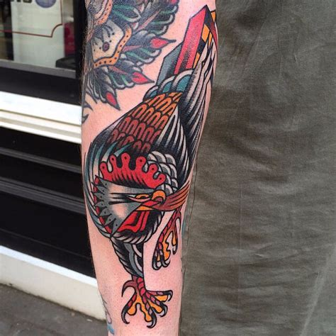 angry rooster tattoo  tattoo ideas gallery