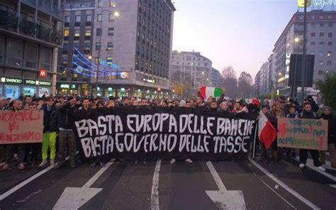 Banche Ebraiche by Manifestazione Dei Forconi Per Il Leader Movimento L