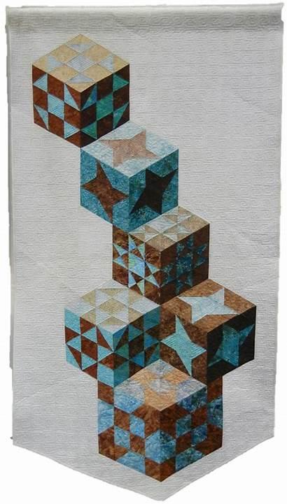 Tumbling Blocks Quilt Inspiration Quilts Sampler Revisited