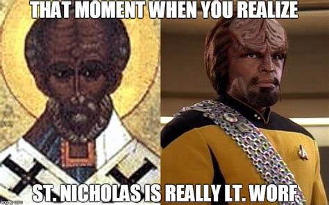 St Nicholas Meme - you better watch out you better not cry you better not pout or i will kill you where you