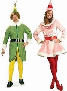 COUPLES ELF MOVIE BUDDY AND JOVI CHRISTMAS COSTUME Holiday