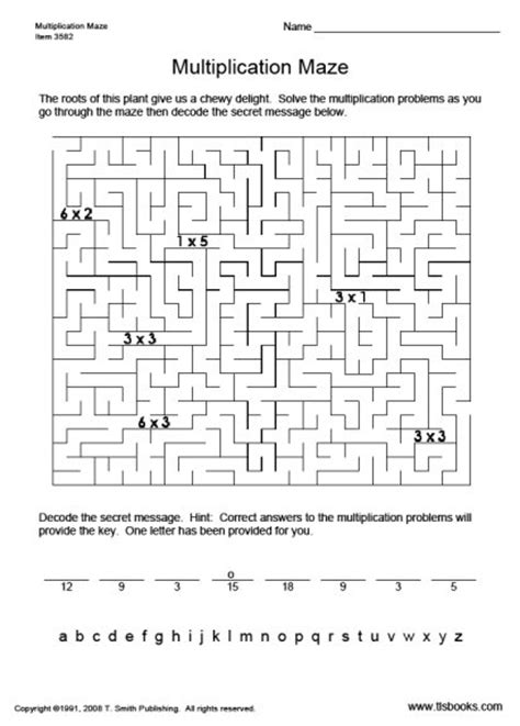 worksheet works multiplication maze easy multiplication