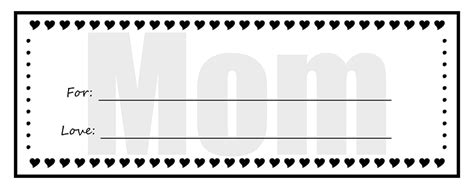 printable gift certificates  mom