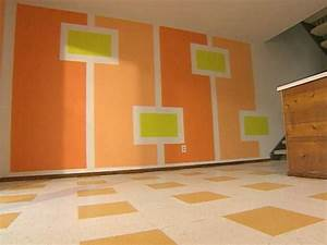 funky wall painting ideas With different designs wall of room