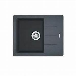 Evier Noir 1 Bac : evier basis franke granit graphite noir 1 bac ~ Dailycaller-alerts.com Idées de Décoration