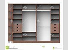 Wardrobe with shelves stock illustration Image of