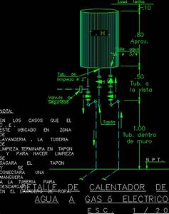 Water Heater Details In Autocad