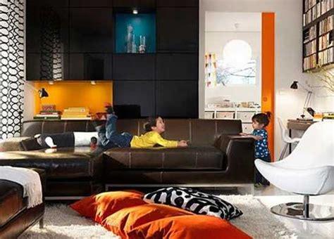 modern interior design ideas blending brown  orange