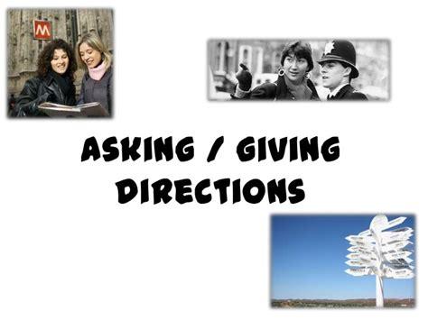 Asking Giving Directions Asking Giving Directions
