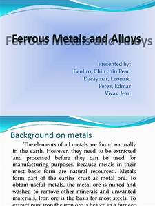 Ferrous Metals And Alloys