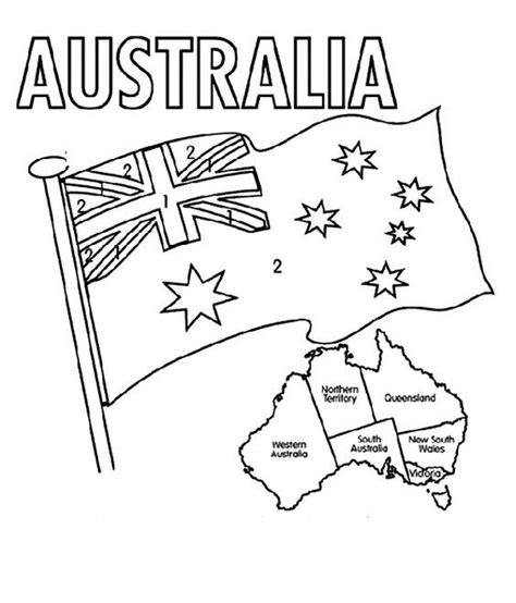australia flag colors coloring home