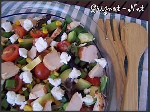 Salade Poulet Avocat : salade fraicheur au poulet avocat et ch vre frais ~ Melissatoandfro.com Idées de Décoration