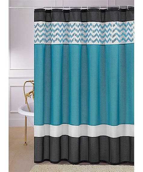 Fabric Shower Curtain With Liner by Teal Sequin Luna Shower Curtain Ps Teal Shower Curtains