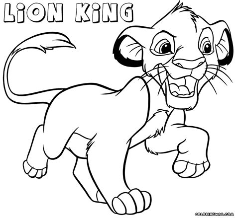 lion king coloring pages coloring pages