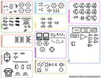 electrical schematic symbols study