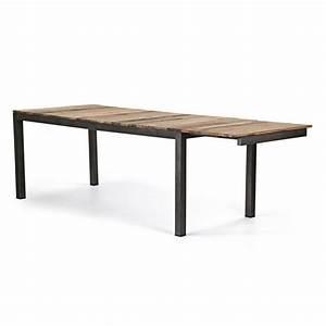table industrielle extensible meuble indstriel table de With meuble salle À manger avec table salle a manger extensible design