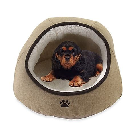 Precious Tails Felt Paw Embroidered Dome Pet Bed - Bed ...