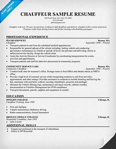 Civil Engineering Resume Example Chauffeur Resume Resumecompanion Com Engineering