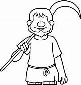 Coloring Farmer Boy Celts Celtic Wecoloringpage sketch template