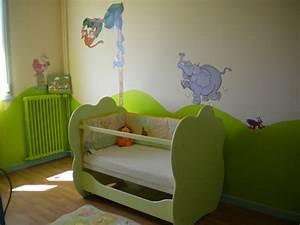 stunning chambre garcon vert et marron photos design With deco chambre vert anis