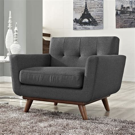 gray accent chair shop modway engage gray accent chair at lowes com