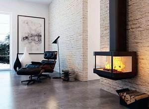 Poele Suspendu Design : quel po le ou chemin e pour un salon design c t maison ~ Melissatoandfro.com Idées de Décoration