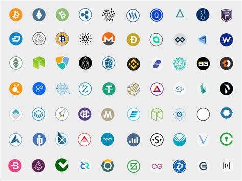 100 cryptocurrency vector icons sketch freebie