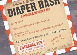 free diaper party invitations baby diaper invitation With diaper party invitation template free