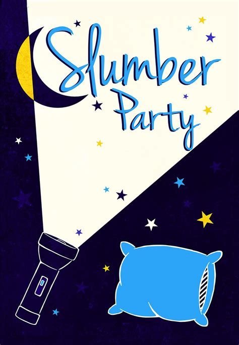 A Flash Light Sleepover Party Invitation Template (Free