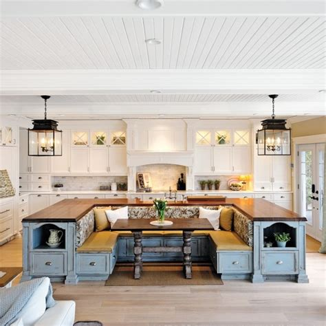 built in kitchen islands with seating kitchen island with built in seating inspirations and ideas picture trooque