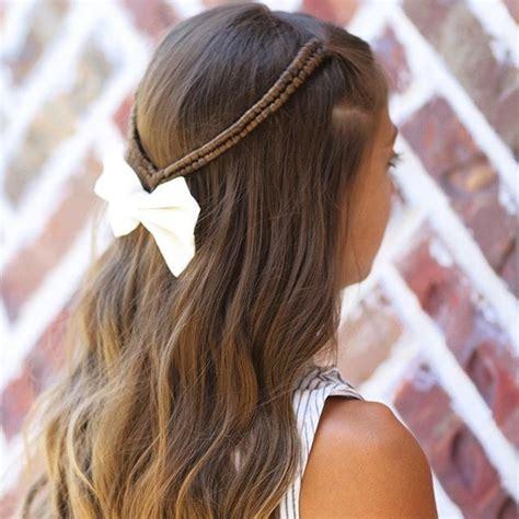 pull through braid easy hairstyles cute girls