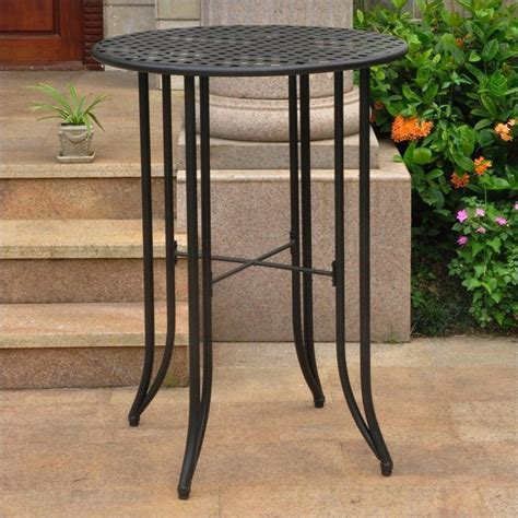 pub height patio table bar height patio table in antique black 3467 tbl ant bk
