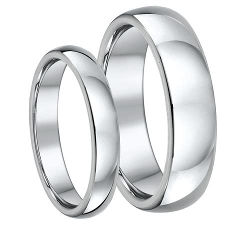 his hers titanium court wedding rings 4 6mm titanium