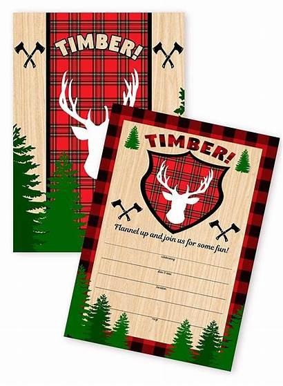 Lumberjack Invitations Birthday Wild Woodland Parties Camping