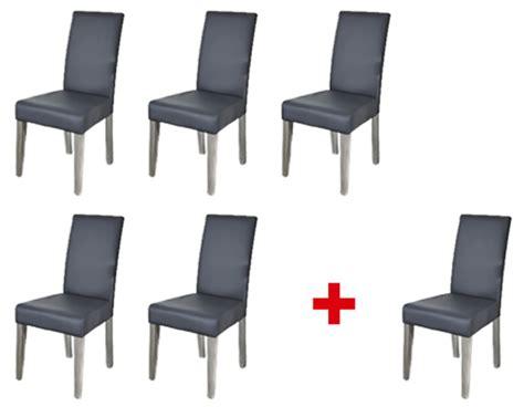 lot de 5 chaises 1 offerte namur gris