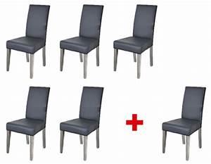 Lot de 5 chaises 1 offerte namur gris for Meuble salle À manger avec chaise bois gris