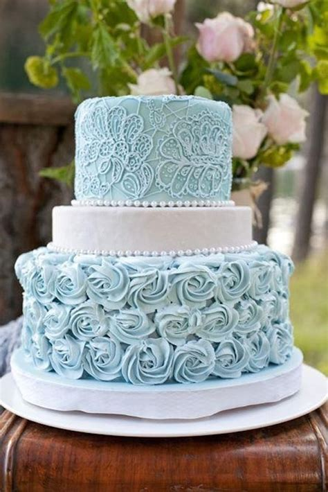 romantic powder blue swirl cake cakes pinterest