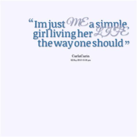 about simple girl quotes