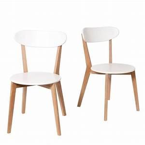 Lot de 2 chaises design scandinave Vitak Couleu Achat / Vente chaise MDF Laqué Soldes