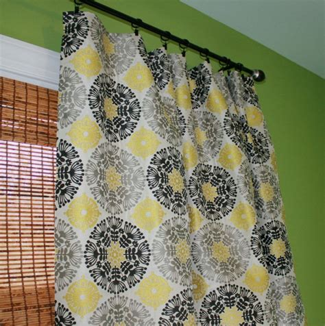 yellow and gray kitchen curtains black grey and yellow suzani curtain panel custom