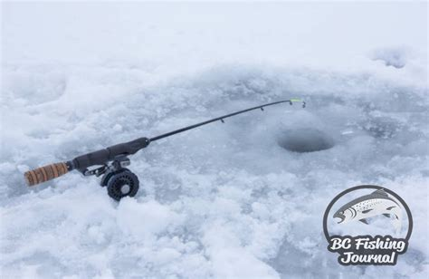 ice fishing rods  tip ups bc fishing journal