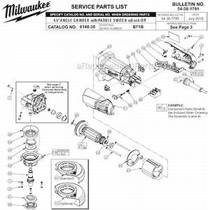 Milwaukee 6148-30 Parts List And Diagram