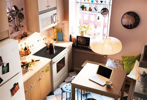 kitchen design ideas   ikea brown wall small space