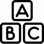 Abc Icon Squares Alphabet English Icons Outline