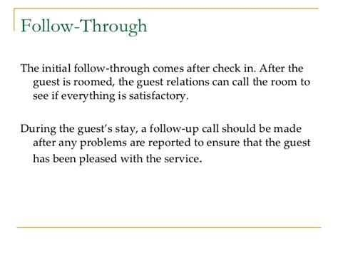 How To Make A Follow Up Call After Submitting A Resume by Guest Services In Hospitality Industry