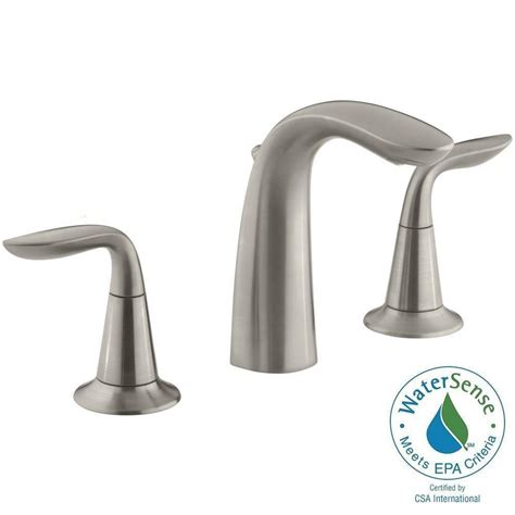 kohler refinia   widespread  handle bathroom sink faucet  brushed nickel    bn