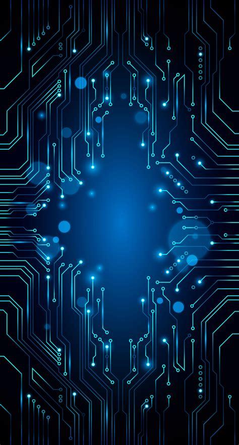 Vector Blue Technology Background Circuit Diagram